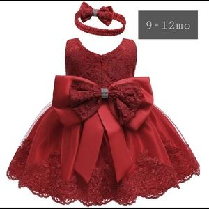 *NEW* Red Christmas Dress 9-12 months